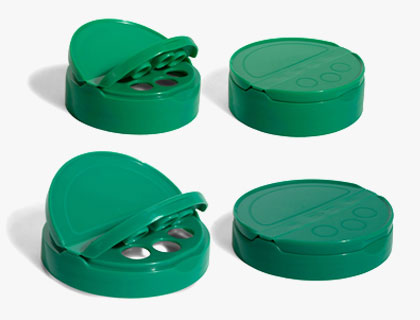 Lids for spice shakers
